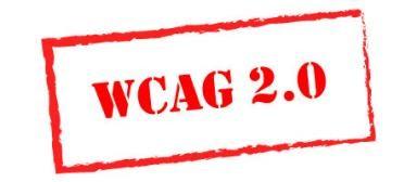 WCAG2.0 Logo. Illustrasjon.