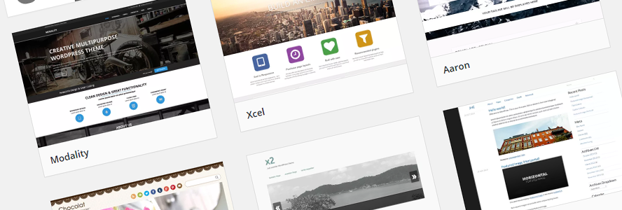 Wordpress themeside. Illustrasjon.