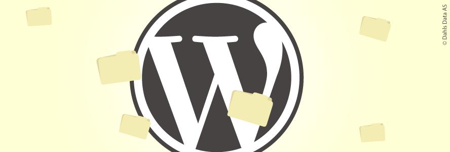 Wordpress logo med filer. Illustrasjon.